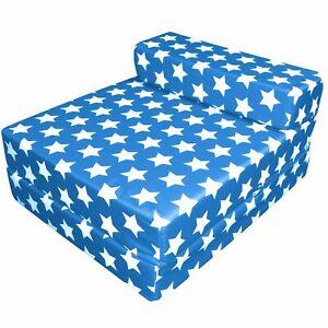 Waterproof ZBed Single Size Fold Out Chairbed Foam Folding Guest Sofa Stars Blue