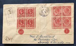 ST. LUCIA BUSTA 1926 R 2 QUARTINE N.79 1d . ADF CON Ni. TAV. 1 E 10 IN CERCHIO