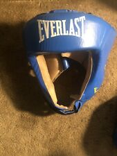 Everlast Competition Blue Headgear Medium Usa Boxing Approved