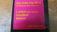 BEN FOLDS FUN DVD featuring music videos for Landed, Jesusland, and Bastard