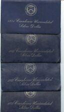 4 PC. 1971, 1972, 1973 & 1974 BU EISENHOWER SILVER DOLLARS OGP!!!..STARTS@ 2.99