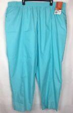 Landau Women's Scrub Pants Size 5Xl Plus Elastic Waist Blue Easy Care V349