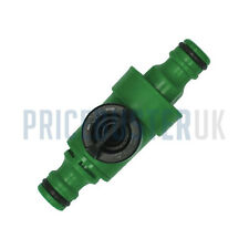 "GARDEN HOSE PIPE INLINE TAP 1/2"" POSITIVE SHUT OFF BALL VALVE FITTING CONNECTOR"