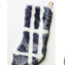 Anthropologie Patterned Faux Fur Stocking