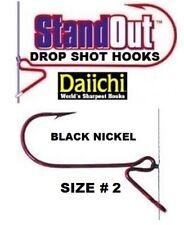 Daiichi StandOut Drop Shot Fishing Hooks ST4ZS Black Nickel Size 2