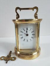 Belle Pendule d'Officier Ronde (rare) -  pendulette de voyage  - carriage clock