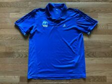 Blue Alba Berlin Germany Basketball Polo Shirt Jersey Adidas Mens Size L