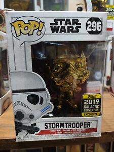 FUNKO POP! Star Wars - Stormtrooper #296 Gold Chrome - Galactic Celebration 2019
