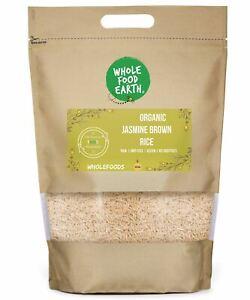 Organic Jasmine Brown Rice   Raw   GMO Free   Vegan   No additives