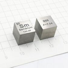 99.9% Pure Sm Samarium Metal Carved Element Periodic Table 10*10*10mm Cube 7.5g