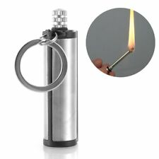 Survival Emergency Camping Fire Starter Flint Match Lighter KeyChain Square