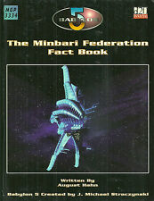 "Hahn ""Babylon 5: The Minbari Federation Fact Book"" 2003 1St Hc Ed Vg Scarce Rpg"