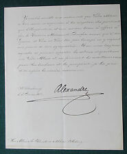 Signed Letter Tsar Alexander III Romanov Imperial Russia to Khedive Abbas Egypt