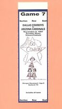 Arizona Cardinals at Dallas Cowboys 1997 NFL ticket stub TOPPS HOF Emmitt Smith