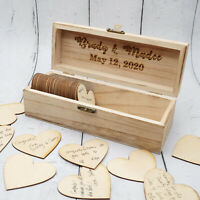 Personalized Wedding Guest Box, Rustic Wedding Guest book, Custom Keepsake Box