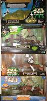 "4 Star Wars 12"" 1:6 Speeder Bike Scout Leia Luke Dewback & Sandtrooper No Boxes"