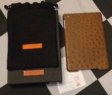MAISON TAKUYA IPAD MINI 2 & 3 BROWN OSTRICH LEATHER CASE HOLDER NEW BAG BOX COA