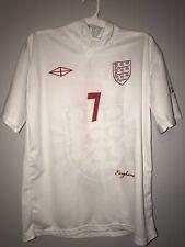 NEW David Beckham England Soccer Futbol Jersey Shirt Medium