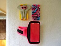 Mixed Lot Of 3 Cell Phone Accessories,2,Covers / Skins,1,Arm Band For Jogging