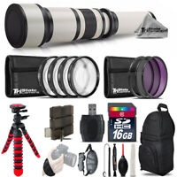 650-1300mm Telephoto Lens Nikon D5300 D5500 + Flexible Tripod & More - 16GB Kit