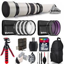 650-1300mm Telephoto Lens Nikon D5300 D5500 + Flexible Tripod & More - 16GB Kit