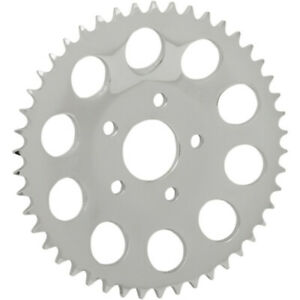 """Drag Chrome 46 Tooth .46"""" Offset Dished Rear Wheel Sprocket 530 Chain 86-99 HD"""