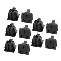AC250V 10A BX-6D IEC AU Input Socket Switch Copper Rhodium Power 10Pcs