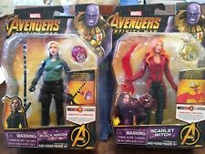 "Marvel Avengers Infinity War Scarlet Witch Black Widow 6"" Lot Hero Vision Figure"