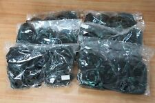 Lot of 36 Large Black Artificial Roses Heads w/ Iridescent Sparkle Green Glitter