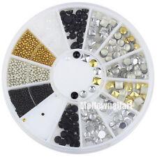 Studs Rivets Pearls Rhinestones Mini Beads Jewelry 3d Nail Art Glitters #58