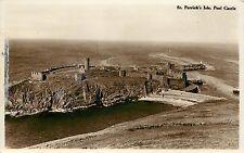 Real Photo Postcard; St. Patrick's Isle, Peel Castle, Isle of Man, Irish Sea Uk