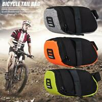 Reflective Bike Bicycle Saddle Bag Cycling Pouch MTB Tail Rear Seat Pannier Bag