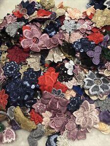 20pcs Random Mixed Flower Venise Lace Embroidery Applique Motif Dance Costume