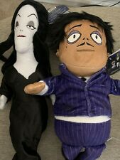 """2019 The Addams Family 19� 13"""" Singing Squeezer plush doll Morticia & Gomez New"""