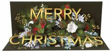 NEW - Pop-Up Panoramic Sound Holiday Christmas Card - Golden Christmas