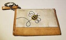 Coach Mini Skinny ID Case Wallet White with Bumble Bee