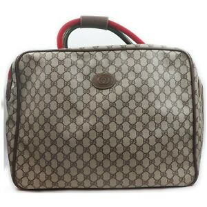 Gucci Boston Bag  Light Brown PVC 1604788