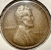 1933 Lincoln Cent Penny Circulated Old US Rare Coin