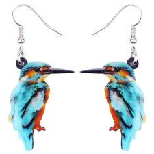 Acrylic Blue Kingfisher Bird Earrings Drop Dangle Animal Jewelry For Women Gifts