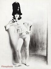1962 Vintage FEMALE TIGHTS Fashion Hat Woman 16x20 Photo Gravure Art SAM HASKINS