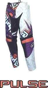 PULSE MOTOCROSS MX BMX MTB PANTS - MOJO ORANGE & PURPLE + FREE SOCKS WORTH £9.99