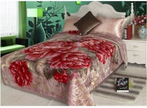 Diamond Breeze Flannel Fleece Bed Blanket Warm Throw Over Ultra Soft Bed Sofa