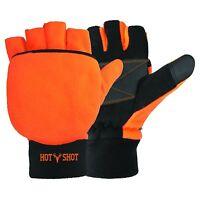 Bullseye Pop Top Mittens XL Gloves Hunting Shooting Blaze Orange Thinsulate New