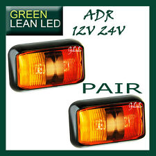 LED 12V 24V MARKER SIDE LAMPS RED AMBER TRAILER UTE CARAVAN SUBMERSIBLE ADR  58