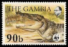 """GAMBIA 517 (SG546) - World Wildlife Fund """"Nile Crocodile"""" (pf5228) $24"""