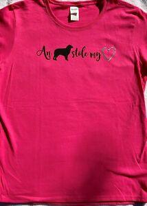 Aussie Rescue - An Aussie stole my heart t-shirt - Pink - Large