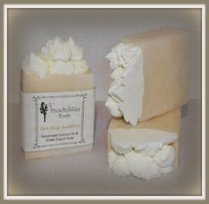 Handmade Soap PixieBubbles JUST SOAP SCENTLESS Coconut Oil & Greek Yogurt Shea