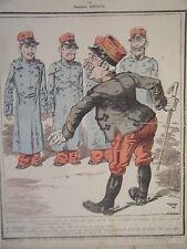 GRAVURE COULEUR  DE NAUDIN 19ème LA GALERIE COMIQUE DE FRISON MILITARIA