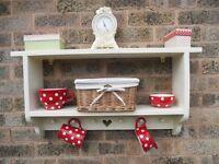 Shabby Chic Nursery Farmhouse Bookcase Shelves shelf Wall Unit Laura Ashley