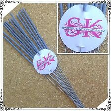 50 x  White Wedding Personalised Sparkler Gift Swing Tags! Great For Bomboniere!